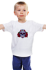"""Детская футболка """"Мексиканский череп"""" - череп, цветы, крест, тату, мексика"""