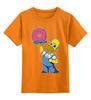 """Детская футболка классическая унисекс """"Гомер с Пончиком"""" - симпсон, гомер, пончик, the simpsons, donut"""