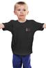 """Детская футболка классическая унисекс """"Духовные скрепы (две стороны, триколор)"""" - прикол, россия, путин, триколор, скрепы"""