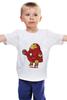 """Детская футболка классическая унисекс """"Fat Ironman"""" - железный человек, iron man"""