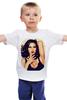 """Детская футболка классическая унисекс """"Monica Anna Maria Bellucci"""" - поп-арт, моника беллуччи, monica bellucci"""