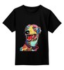 """Детская футболка классическая унисекс """"Пёсик"""" - dog, собака, пёс, bright"""