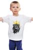 """Детская футболка """"Король Лев"""" - животные, корона, лев, царь зверей"""