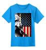 """Детская футболка классическая унисекс """"beck №1"""" - usa, сша, flag"""