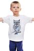 """Детская футболка """"Нарисованная сова"""" - птица, сова"""
