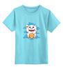 """Детская футболка классическая унисекс """"Lucky Dragon"""" - кот счастья, манэки-нэко, дракон на удачу, манеки неко"""