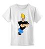 """Детская футболка классическая унисекс """"Johnny Bravo"""" - сериал, мульт, джонни браво, johny bravo"""