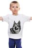 """Детская футболка """"Добродушный волк"""" - хищник, animal, волк, wolf"""