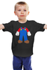 """Детская футболка классическая унисекс """"Костюм Марио"""" - nintendo, марио, mario bros, супербратья марио"""