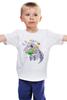 """Детская футболка """"Муравьед с цветами"""" - праздник, цветы, 8 марта, поздравление, муравьед"""