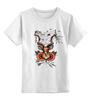 """Детская футболка классическая унисекс """"Koodоо coler"""" - олд скул, природа, old school, олень, deer, tm kiseleva, большой куду"""