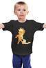 """Детская футболка классическая унисекс """"Applejack Fun"""" - pony, mlp, applejack, эпплджек"""