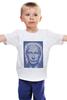 """Детская футболка классическая унисекс """"The Icon"""" - арт, портрет, russia, мозаика, путин, президент, putin, president, икона, the icon"""