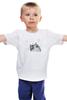 """Детская футболка классическая унисекс """"Music Cat"""" - музыка, кот, ноты, добро, кошаса"""