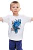"""Детская футболка """"ART ZOO"""" - birds, blue, синие птицы"""