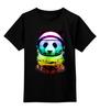 """Детская футболка классическая унисекс """"Панда Космонавт"""" - панда, абстракция, panda, космонавт"""