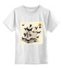 """Детская футболка классическая унисекс """"Череп"""" - skull, череп, бабочки, цветы, черепа, солнце, кости, death, butterflies"""