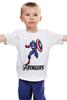 "Детская футболка классическая унисекс ""Капитан Америка"" - мстители, avengers, капитан америка, captain america"