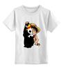 """Детская футболка классическая унисекс """"Манки Д. Луффи (Соломенная шляпа) """" - one piece, большой куш, соломенная шляпа, луффи"""