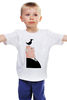 """Детская футболка классическая унисекс """"Альфред Хичкок"""" - птицы, ворон, the birds, альфред хичкок, alfred hitchcock"""