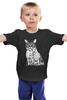 """Детская футболка классическая унисекс """"Кот-хипстер и мышь"""" - кот, юмор, мышь, mouse, очки, cat, хипстер, hipster, glasses, умный"""