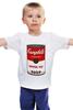 """Детская футболка классическая унисекс """"Campbell's Soup (Энди Уорхол)"""" - поп арт, энди уорхол, pop art, andy warhol, campbell's soup"""