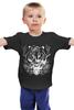 """Детская футболка классическая унисекс """"Тигриный взгляд"""" - tiger"""