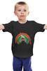 """Детская футболка """"Олень"""" - животные, радуга, олень"""