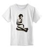 """Детская футболка классическая унисекс """"Мужская моника беллуччи"""" - monica bellucci, моника беллучи"""