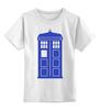 """Детская футболка классическая унисекс """"Tardis (Тардис)"""" - сериал, doctor who, доктор кто, машина времени, телефонная будка"""