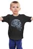 """Детская футболка классическая унисекс """"Лунный Череп"""" - skull, череп, луна, волк"""