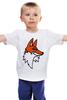 """Детская футболка классическая унисекс """"Лис"""" - авторские майки, fox"""