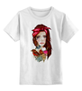 """Детская футболка классическая унисекс """"bad girl"""" - арт, girl, tattoo, тату"""