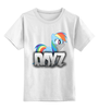 """Детская футболка классическая унисекс """"Rainbow in DayZ"""" - mlp, my little pony, пони, dayz"""