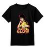 """Детская футболка классическая унисекс """"Брюс Ли (The Glow)"""" - bruce lee, брюс ли, the glow"""