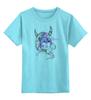 """Детская футболка классическая унисекс """"рога"""" - девушка, графика, акварель, рога, месяц"""