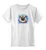 """Детская футболка классическая унисекс """"МОПСик"""" - pug, мопс, мопсик, рисунок, собаки"""
