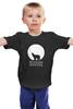 """Детская футболка """"Russian winter"""" - медведь, россия, луна, русская зима"""