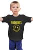 """Детская футболка классическая унисекс """"Watchmen x Nirvana"""" - смайл, nirvana, smile, хранители, watchmen"""