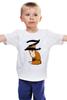 """Детская футболка """"Зорро"""" - животные, fox, лиса, зорро, рыжий лис"""