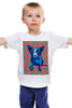 """Детская футболка классическая унисекс """"Синий Пес"""" - сердце, dog, пес, собака, blue dog"""