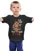 """Детская футболка классическая унисекс """"Качок 2015! Качай и не скучай!"""" - барашек, кубики, new year, дед мороз, санта, fitness, новогодние, мода 2015, bodybuilding, 2015"""