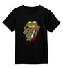 """Детская футболка классическая унисекс """"Walking Dead x Rolling Stones"""" - zombie, зомби, поцелуй, the rolling stones, ходячие мертвецы"""