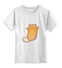 """Детская футболка классическая унисекс """"Рыжий кот"""" - кот, cat, рыжий кот, смешной кот"""