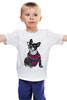 """Детская футболка классическая унисекс """"Собака Хипстер"""" - животные, собака, хипстер"""