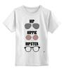 "Детская футболка классическая унисекс ""HipHipiHipster"" - очки, хипстер, hippie, хиппи, hip, hipster"