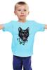 """Детская футболка классическая унисекс """"Пантера"""" - кот, кошка, пантера, black cat, panther, tm kiseleva"""