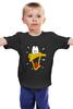 """Детская футболка классическая унисекс """"Daffy Duck"""" - мульт, луни тюнз, daffy duck, даффи дак, утка даффи"""