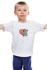 """Детская футболка классическая унисекс """"коала"""" - сердечко, воздушный шар, коала"""