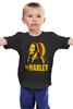 """Детская футболка классическая унисекс """"Боб Марлей (Bob Marley)"""" - регги, боб марли, bob marley, reggae, ska, jamaica"""